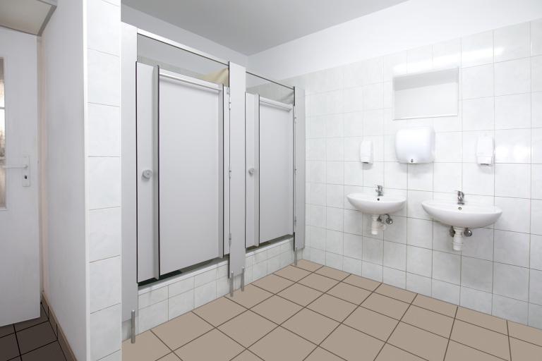 Kabiny wc z drzwiami uchylnymi