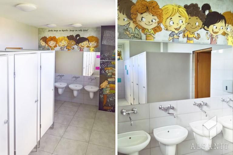 kabiny WC dla szkół